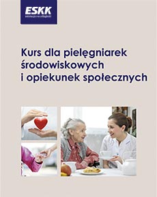 """Okładka kursu """"dla pielęgniarek środowiskowych i opiekunek społecznych"""""""